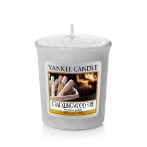 Lumanare Parfumata Votive Crackling Wood Fire, Yankee Candle
