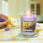 Lumanare Parfumata Borcan Mare Lemon Lavender, Yankee Candle