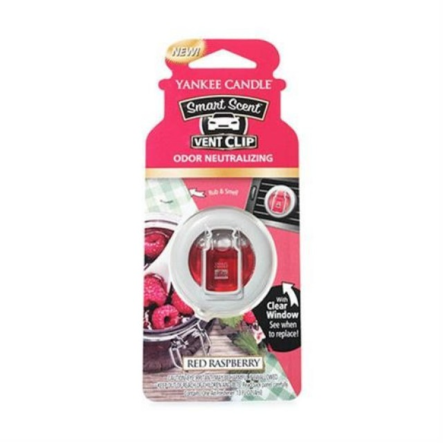 Odorizant Auto Smart Scent Vent Clip Red Raspberry, Yankee Candle