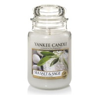 Lumanare Parfumata Borcan Mare Sea Salt & Sage, Yankee Candle