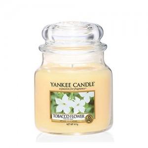 Lumanare Parfumata Borcan Mediu Tobacco Flower, Yankee Candle