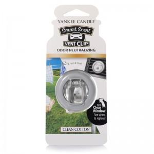 Odorizant Auto Smart Scent Vent Clip Clean Cotton, Yankee Candle