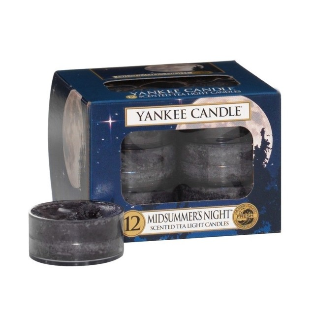 Set 12 lumanari parfumate tip pastila Midsummer's Night, Yankee Candle