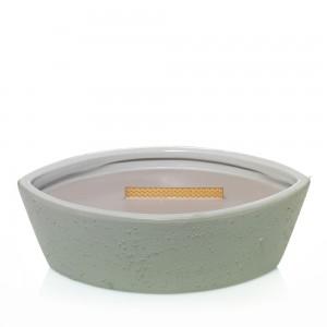 Lumanare Parfumata Ellipse Wood Smoke, Concrete Collection, WoodWick®