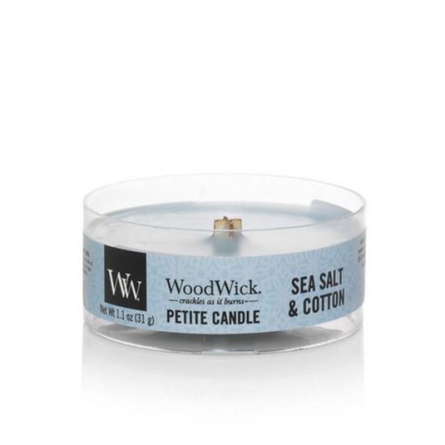 Lumanare Parfumata Petite Sea Salt & Cotton, WoodWick®