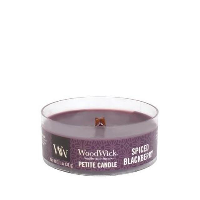 Lumanare Parfumata Petite Spiced Blackberry, WoodWick®