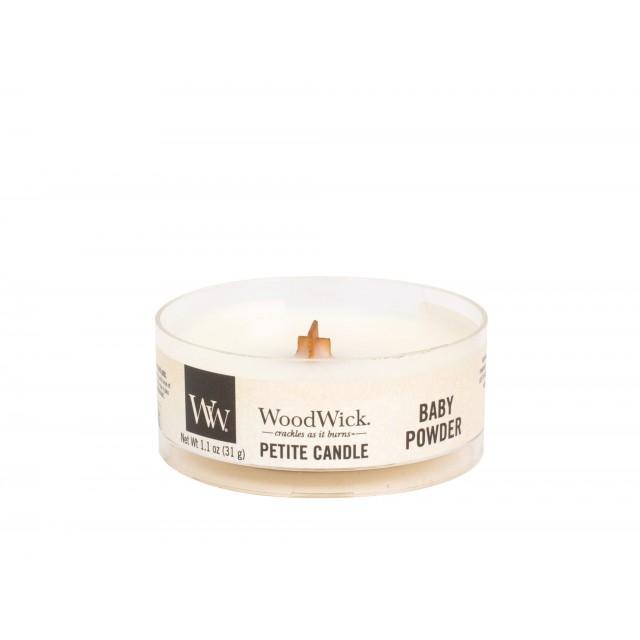 Lumanare Parfumata Petite Baby Powder, WoodWick®