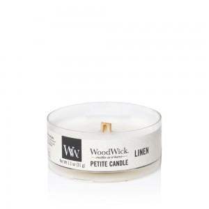 Lumanare Parfumata Petite Linen, WoodWick®