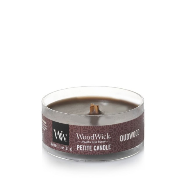 Lumanare Parfumata Petite Oudwood, WoodWick®