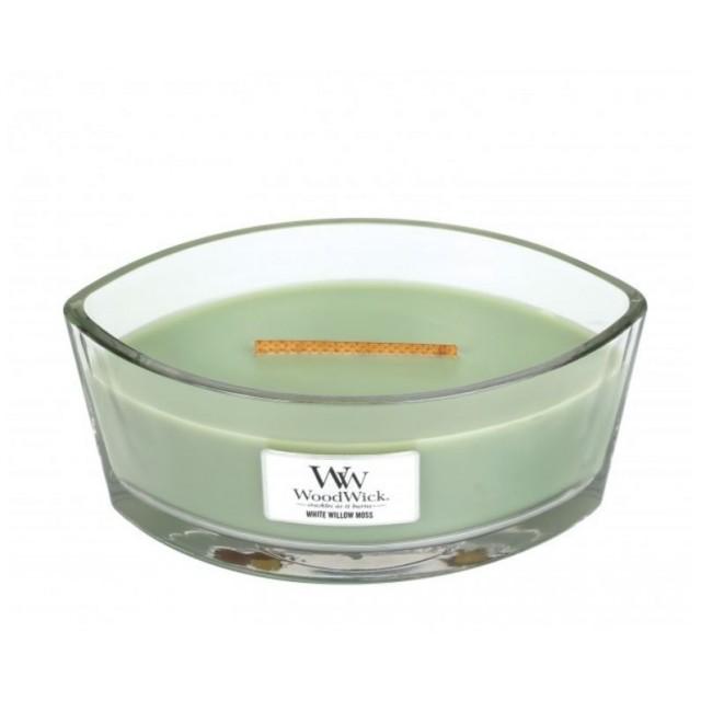 Lumanare Parfumata Ellipse White Willow Moss, WoodWick®