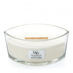Lumanare Parfumata Ellipse White Tea & Jasmine, WoodWick®