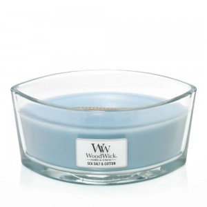 Lumanare Parfumata Ellipse Sea Salt & Cotton, WoodWick®