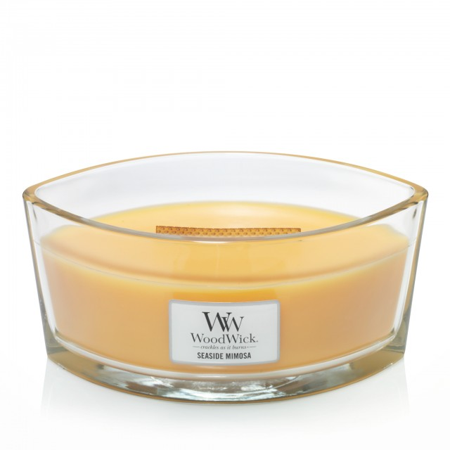 Lumanare Parfumata Ellipse Seaside Mimosa, WoodWick®