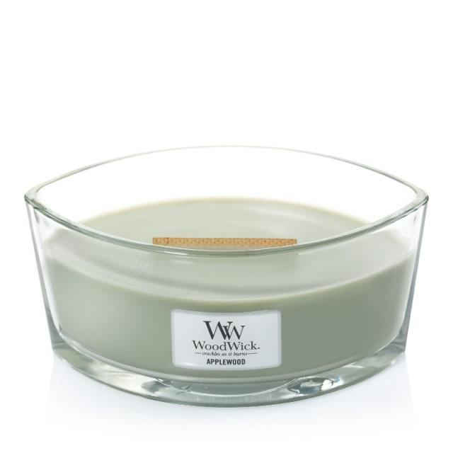 Lumanare Parfumata Ellipse Applewood, WoodWick®