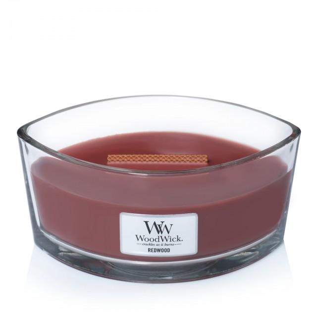 Lumanare Parfumata Ellipse Redwood, WoodWick®