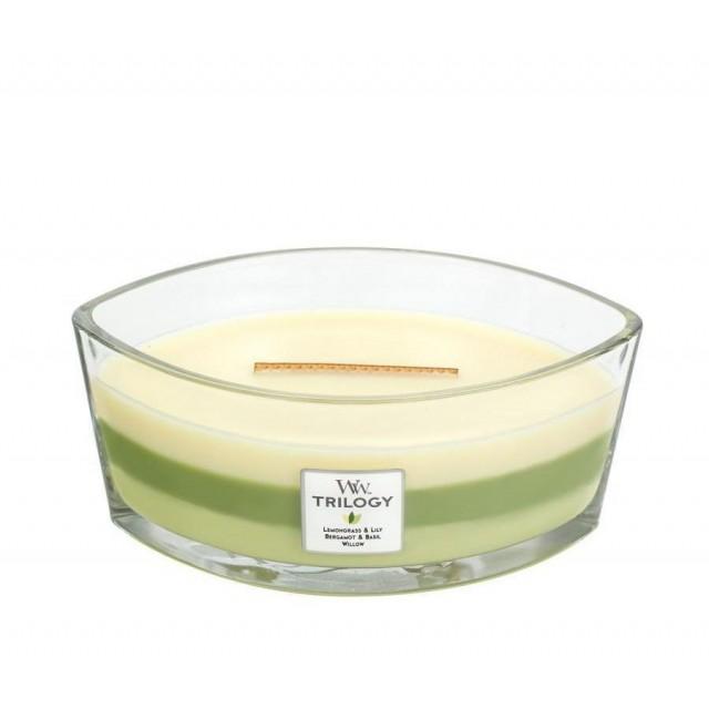 Lumanare Parfumata Ellipse Trilogy Garden Oasis, WoodWick®