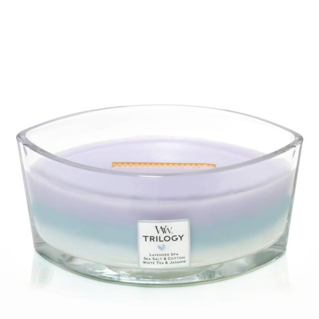 Lumanare Parfumata Ellipse Trilogy Calming Retreat, WoodWick®