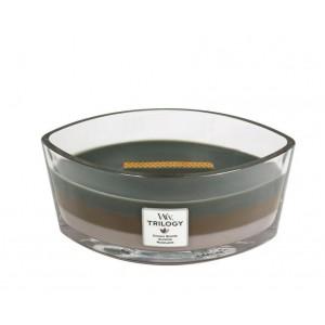 Lumanare Parfumata Ellipse Trilogy Cozy Cabin, WoodWick®