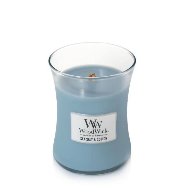 Lumanare Parfumata Borcan Mediu Sea Salt & Cotton, WoodWick®