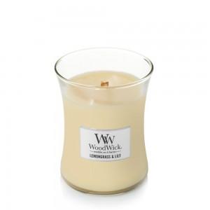 Lumanare Parfumata Borcan Mediu Lemongrass & Lily, WoodWick®