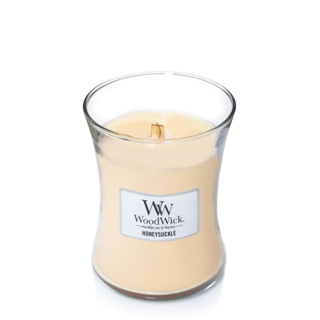 Lumanare Parfumata Borcan Mediu Honeysuckle, WoodWick®