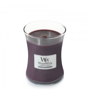 Lumanare Parfumata Borcan Mediu Spiced Blackberry, WoodWick®
