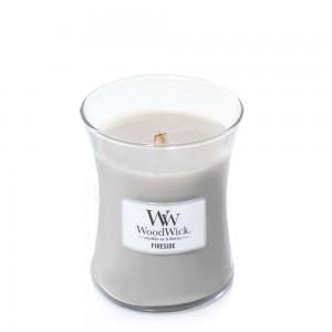 Lumanare Parfumata Borcan Mediu Fireside, WoodWick®