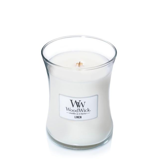 Lumanare Parfumata Borcan Mediu Linen, WoodWick®