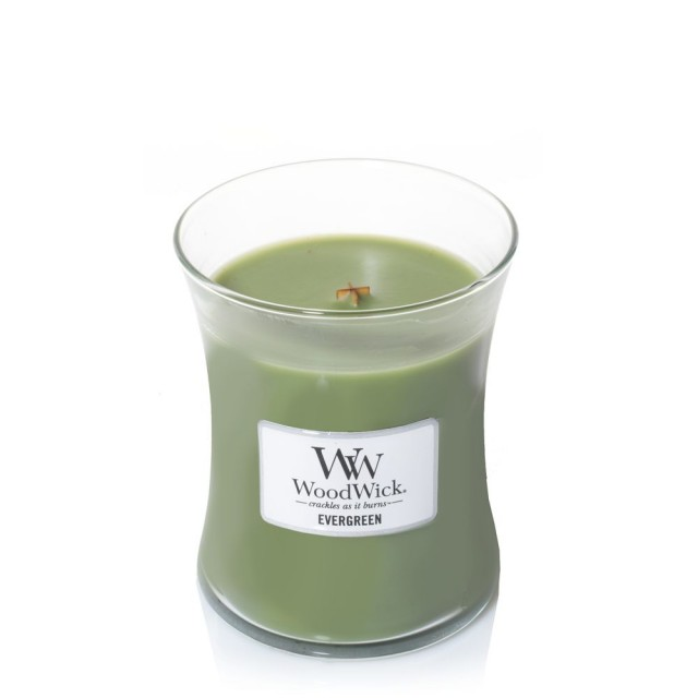 Lumanare Parfumata Borcan Mediu Evergreen, WoodWick®