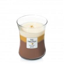 Lumanare Parfumata Borcan Mediu Trilogy Café Sweets, WoodWick®