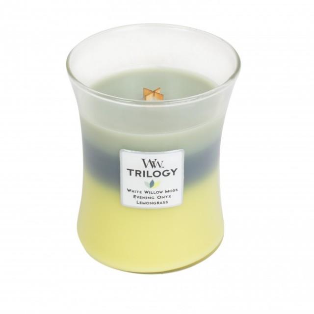 Lumanare Parfumata Borcan Mediu Trilogy Woodland Shade, WoodWick®