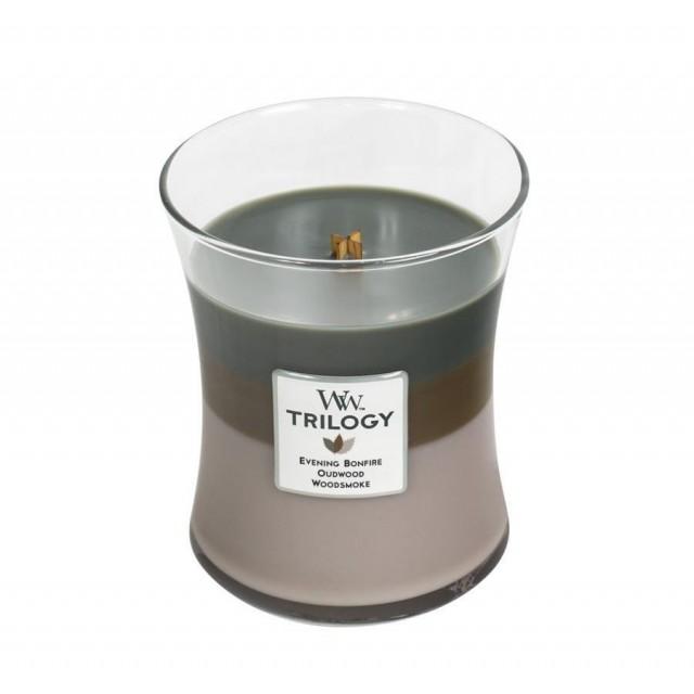 Lumanare Parfumata Borcan Mediu Trilogy Cozy Cabin, WoodWick®