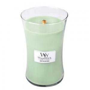 Lumanare Parfumata Borcan Mare White Willow Moss, WoodWick®