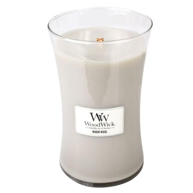 Lumanare Parfumata Borcan Mare Warm Wool, WoodWick®