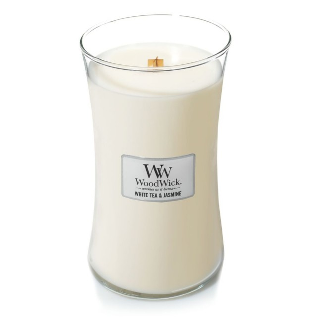 Lumanare Parfumata Borcan Mare White Tea & Jasmine, WoodWick®