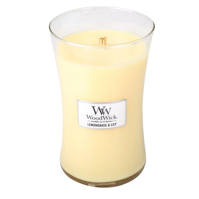 Lumanare Parfumata Borcan Mare Lemongrass & Lily, WoodWick®