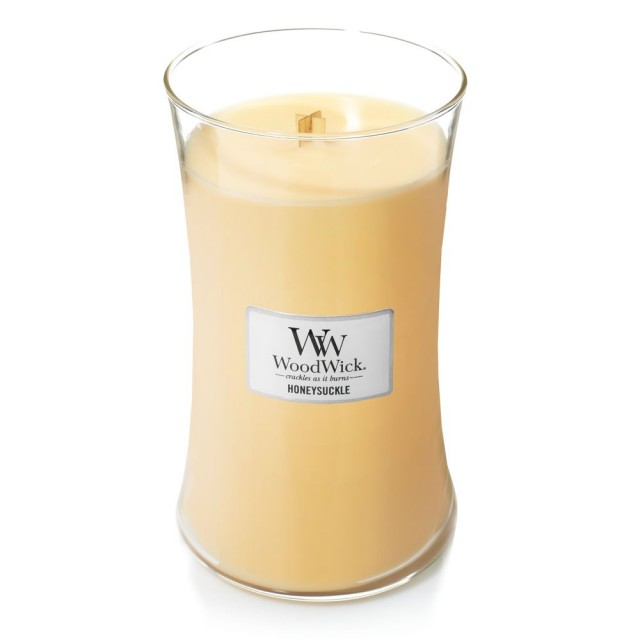 Lumanare Parfumata Borcan Mare Honeysuckle, WoodWick®