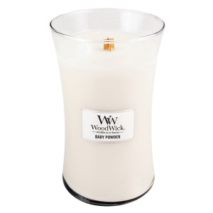 Lumanare Parfumata Borcan Mare Baby Powder, WoodWick®