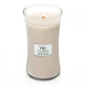 Lumanare Parfumata Borcan Mare Sea Salt Vanilla, WoodWick®