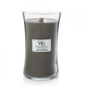 Lumanare Parfumata Borcan Mare Sand & Driftwood, WoodWick®