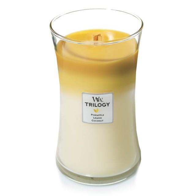 Lumanare Parfumata Borcan Mare Trilogy Fruits of Summer, WoodWick®