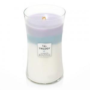Lumanare Parfumata Borcan Mare Trilogy Calming Retreat, WoodWick®