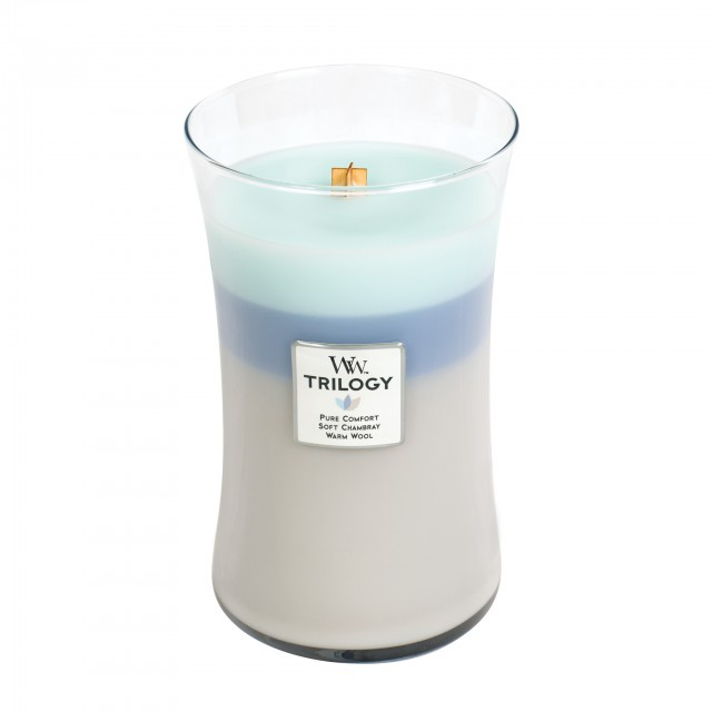 Lumanare Parfumata Borcan Mare Trilogy Woven Comforts, WoodWick®