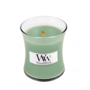 Lumanare Parfumata Borcan Mic White Willow Moss, WoodWick®