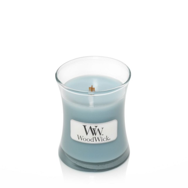Lumanare Parfumata Borcan Mic Sea Salt & Cotton, WoodWick®