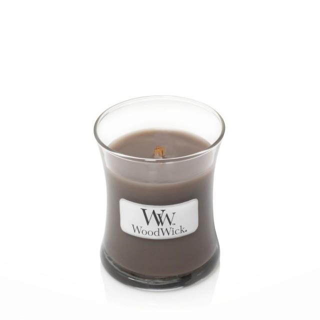 Lumanare Parfumata Borcan Mic Sand & Driftwood, WoodWick®