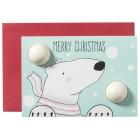 "Felicitare cu sare de baie, ""Merry Christmas Polar Bear"", Bomb Cosmetics"