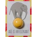 """Felicitare cu sare de baie, """"Age is Irr-elephant"""", Bomb Cosmetics"""