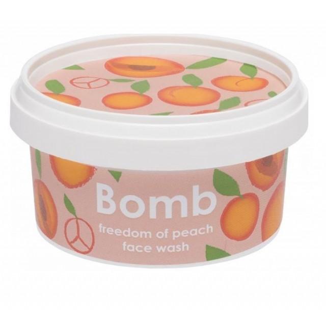 Gel pentru curatarea fetei Freedom of Peach, Bomb Cosmetics, 200ml