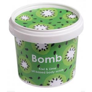 Exfoliant Vegan pentru corp Kiwi & Lime Bomb Cosmetics, 365ml